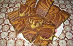 Домашний пирог «Зебра»