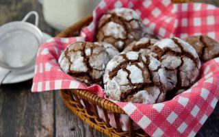 Шоколадное печенье с трещинками, 5 рецептов