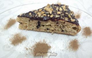 Бисквит с кусочками шоколада