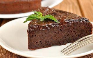 Шоколадно-овсяный кекс