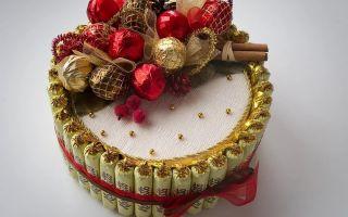 Подарки из конфет своими руками, 7 мастер классов поделок пошагово