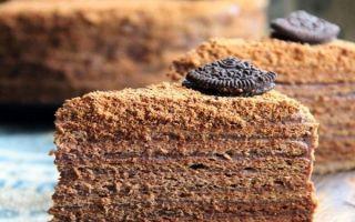 Готовим медовик шоколадный и классический на сковороде
