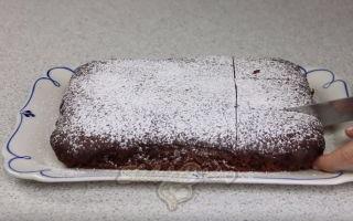 Пирог с какао