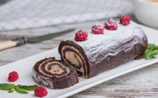 Как приготовить шоколадный рулет дома: 9 рецептов рулета