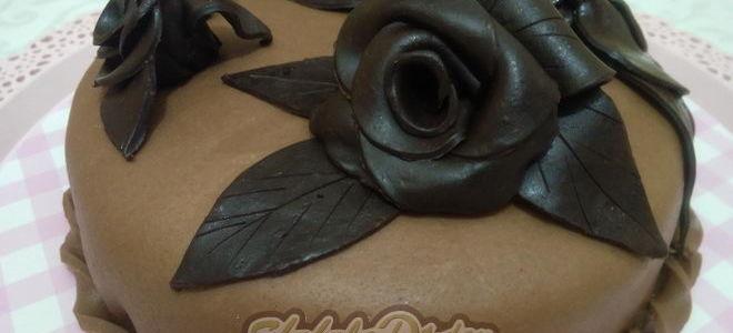 Мастер класс: Торт с шоколадной мастикой