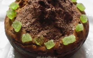 Творожный кекс с шоколадом «Шапка Мономаха»