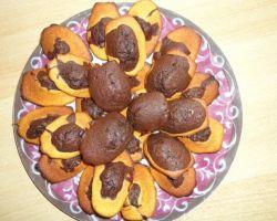 Песочное печенье «Мраморное» с начинкой из шоколадного крема