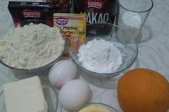 Ингредиенты для песочного шоколадное печенья.