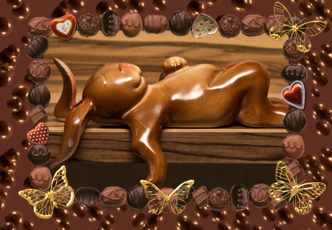 Анимации, прикольный картинки с шоколадом