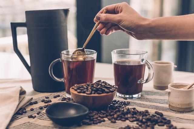 черное кофе без сахара