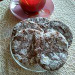 шоколадное треснутое печенье