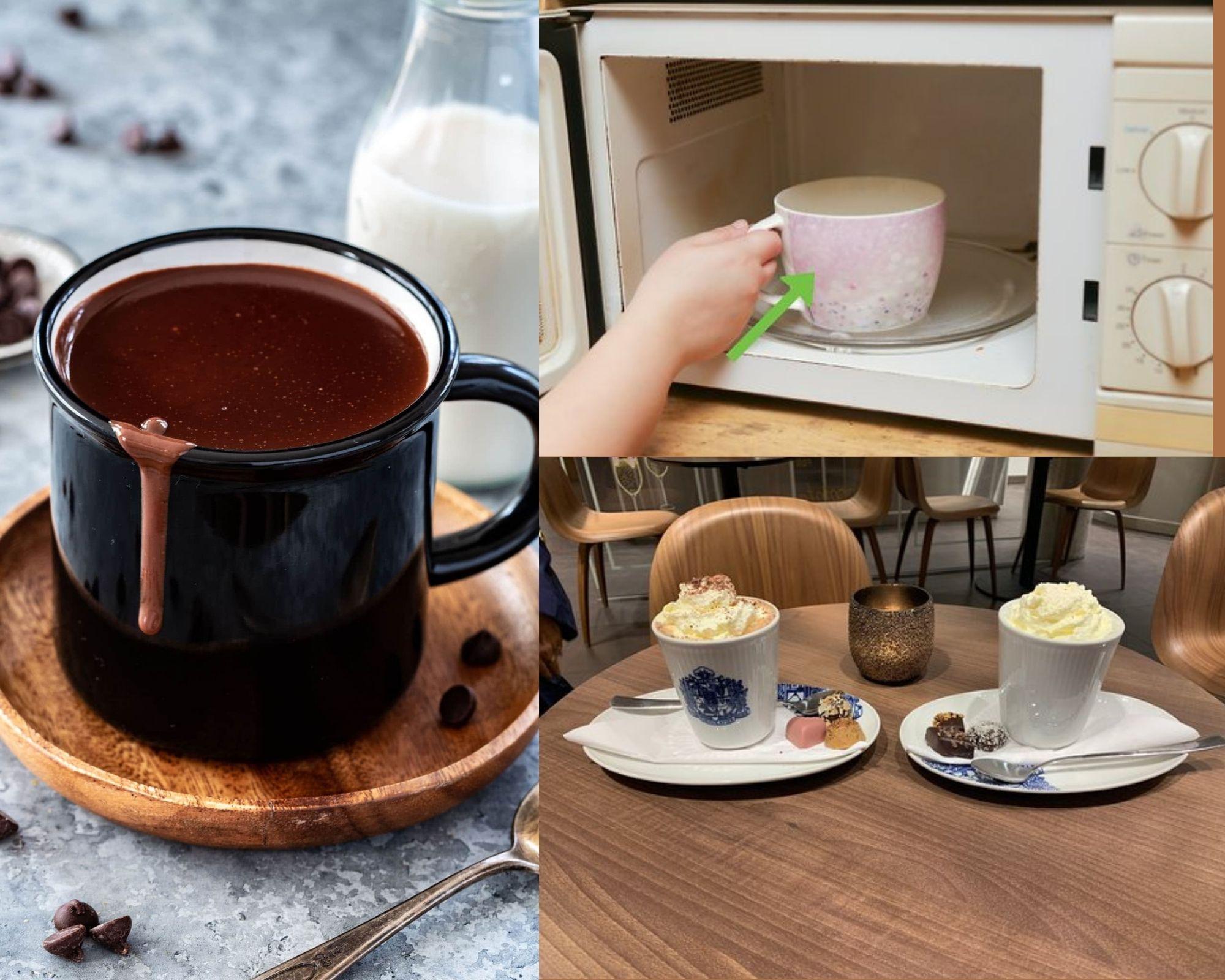Фото Горячий шоколад и микроволновка.