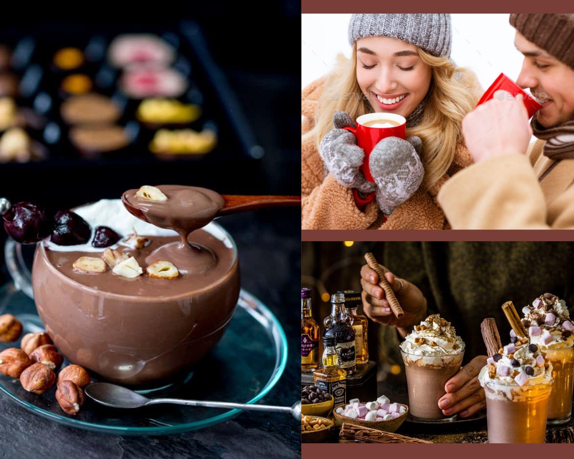 Фото Люди пьют шоколад.