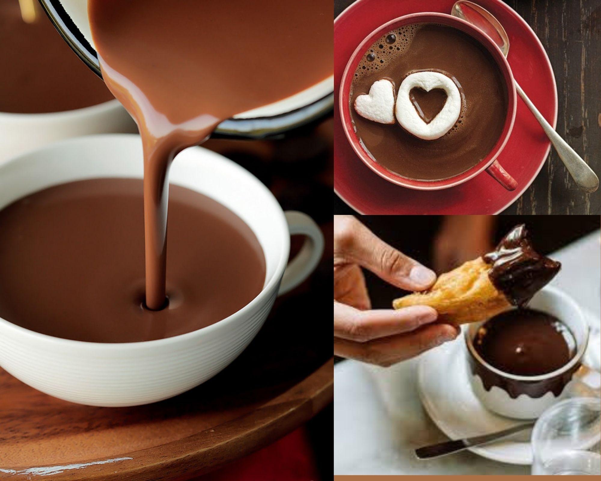 Фото Три чашки горячего шоколада.