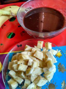 Постный шоколадный соус с бананом.