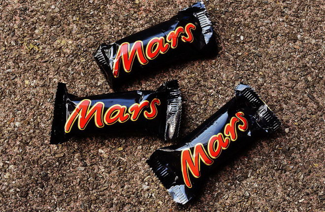 Stick of confectionery Mars.