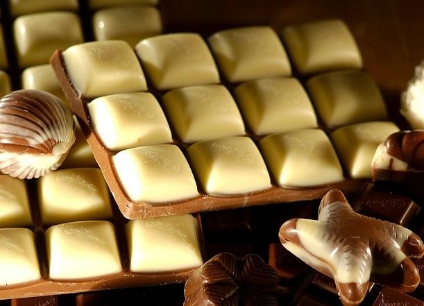 Фото 4. Разновидности белого шоколада.