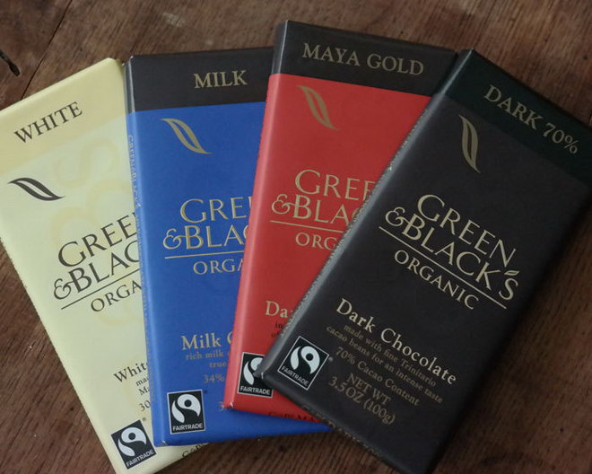 Green & Black's chocolate.