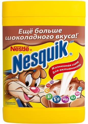 Фото упаковки какао «несквик».