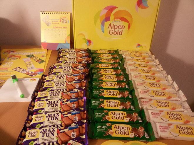 Для тех, кто любит перекусить на бегу, под брендом Alpen Gold выпускают и небольшие плитки.