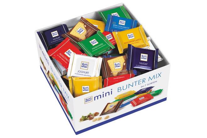 Фото 10. Шоколад RITTER SPORT в мини-формате.