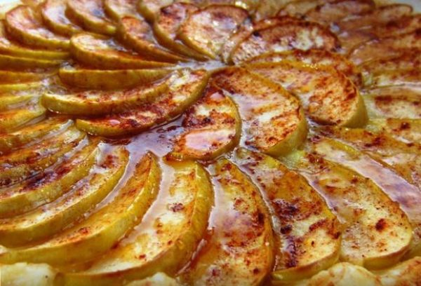 Фото запечь яблоки в микроволновке в виде пирога06.
