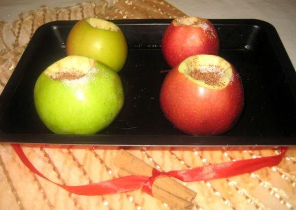 Фото запечь яблоки в микроволновке в виде пирога15.