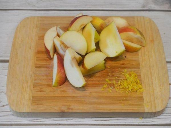 Фото запечь яблоки в микроволновке в виде пирога25.