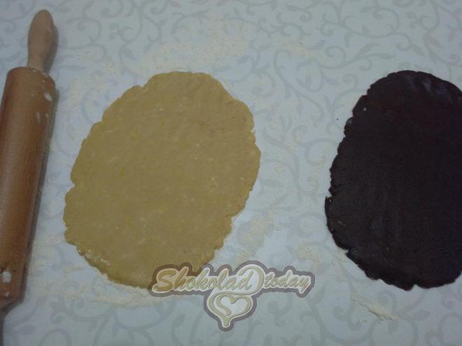 Фото pesochnoe dvuhtsvetnoe pechene s kakao i limonnoj tsedroj zavitushka 06.