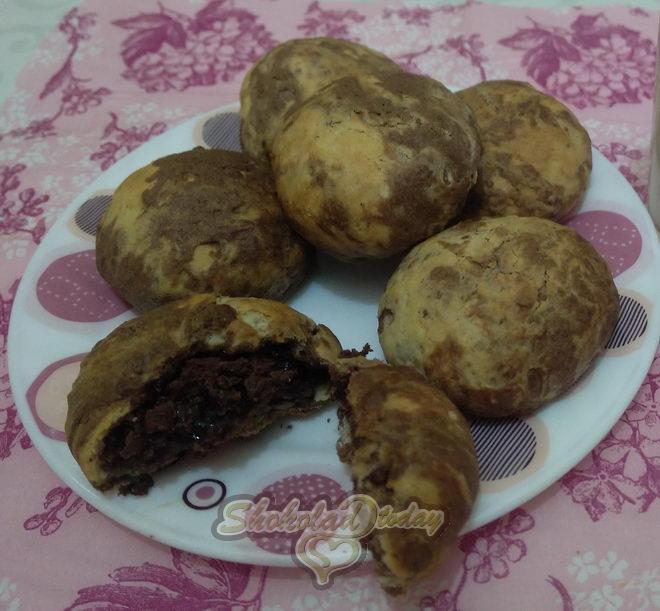 Фото 20. Песочное печенье «Мраморное» с начинкой из шоколадного крема.