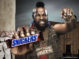Snikers get some nuts.