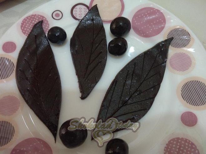 Фото торт с шоколадной мастикой 08.
