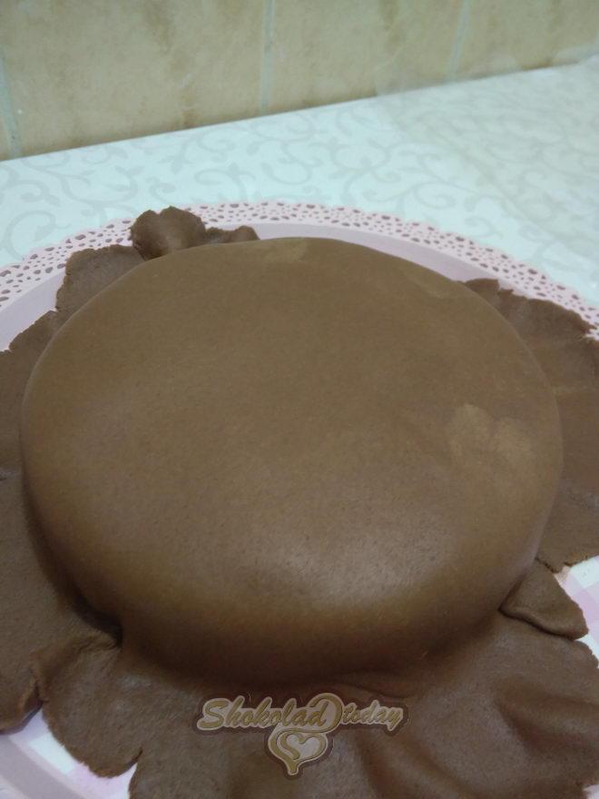 Фото торт с шоколадной мастикой 21.
