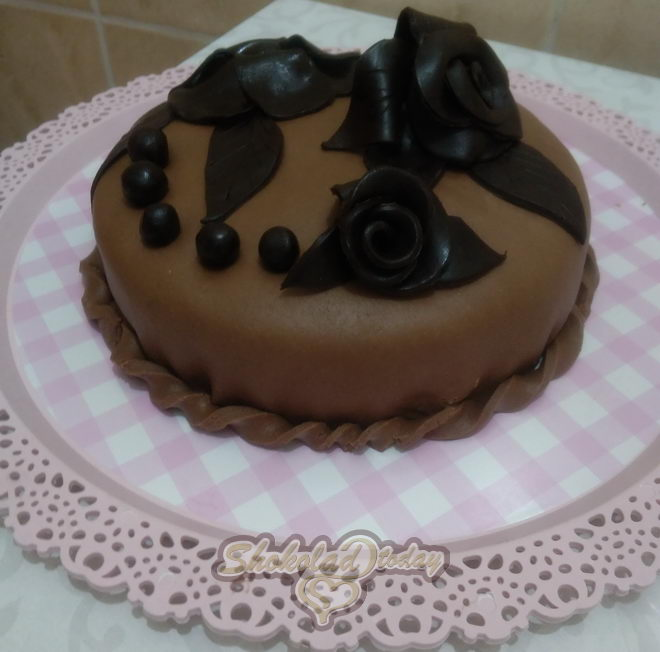 Фото торт с шоколадной мастикой 25 1.