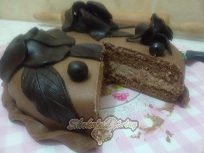 Фото торт с шоколадной мастикой 29.