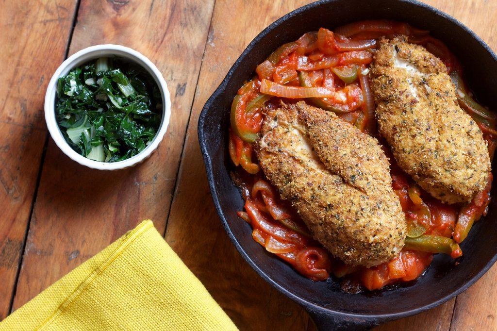 Фото spinach курица в соусе.