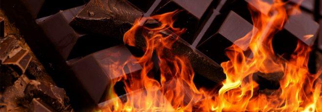 Фото шоколад в огне.