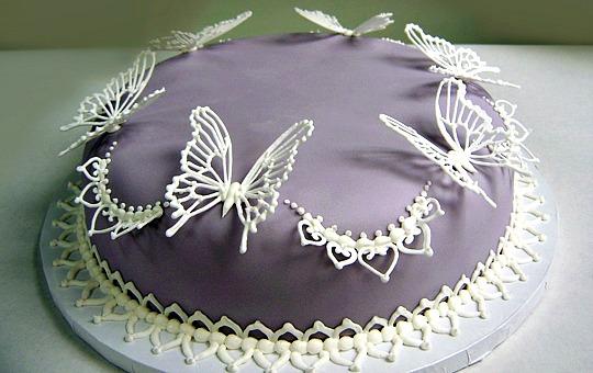 ukrasheniye torta kofetami sladostyami