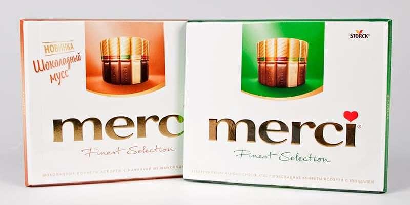 Shokoladnyye konfety Mersi