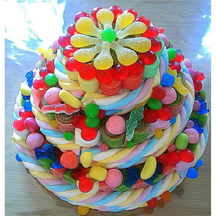 Фото tort ukrashennyj konfetami i shokoladkami 18.