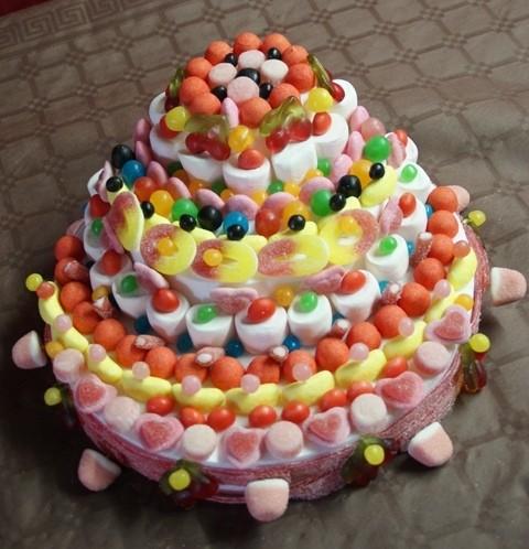 Фото tort ukrashennyj konfetami i shokoladkami 28.