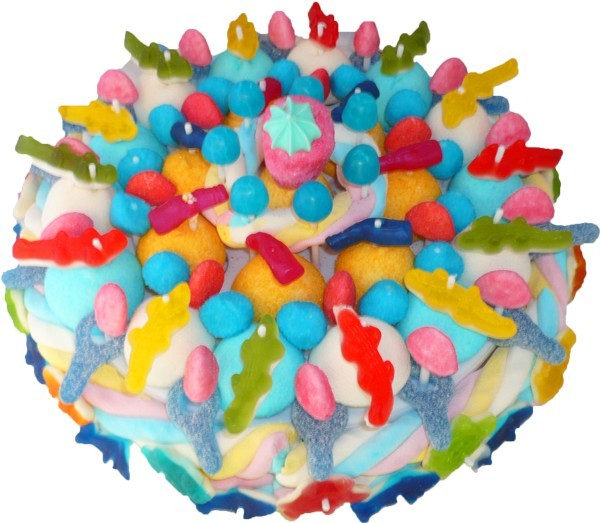 Фото tort ukrashennyj konfetami i shokoladkami 31.