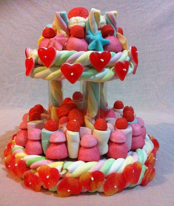 Фото tort ukrashennyj konfetami i shokoladkami 32.