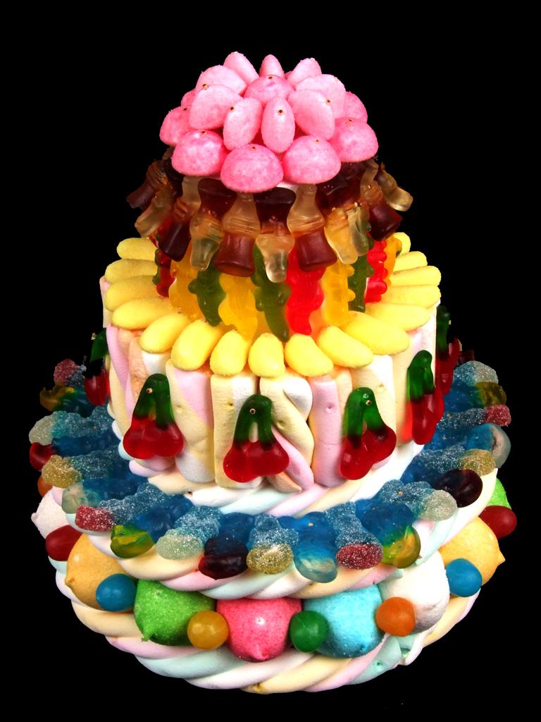 Фото tort ukrashennyj konfetami i shokoladkami 66.