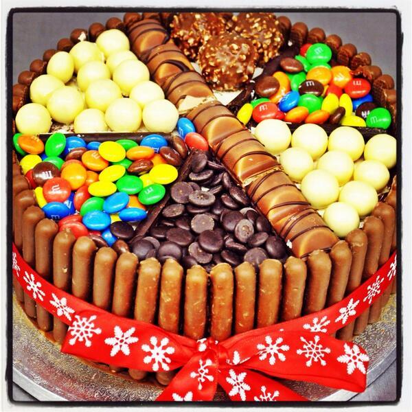 Фото tort ukrashennyj konfetami i shokoladkami 9.