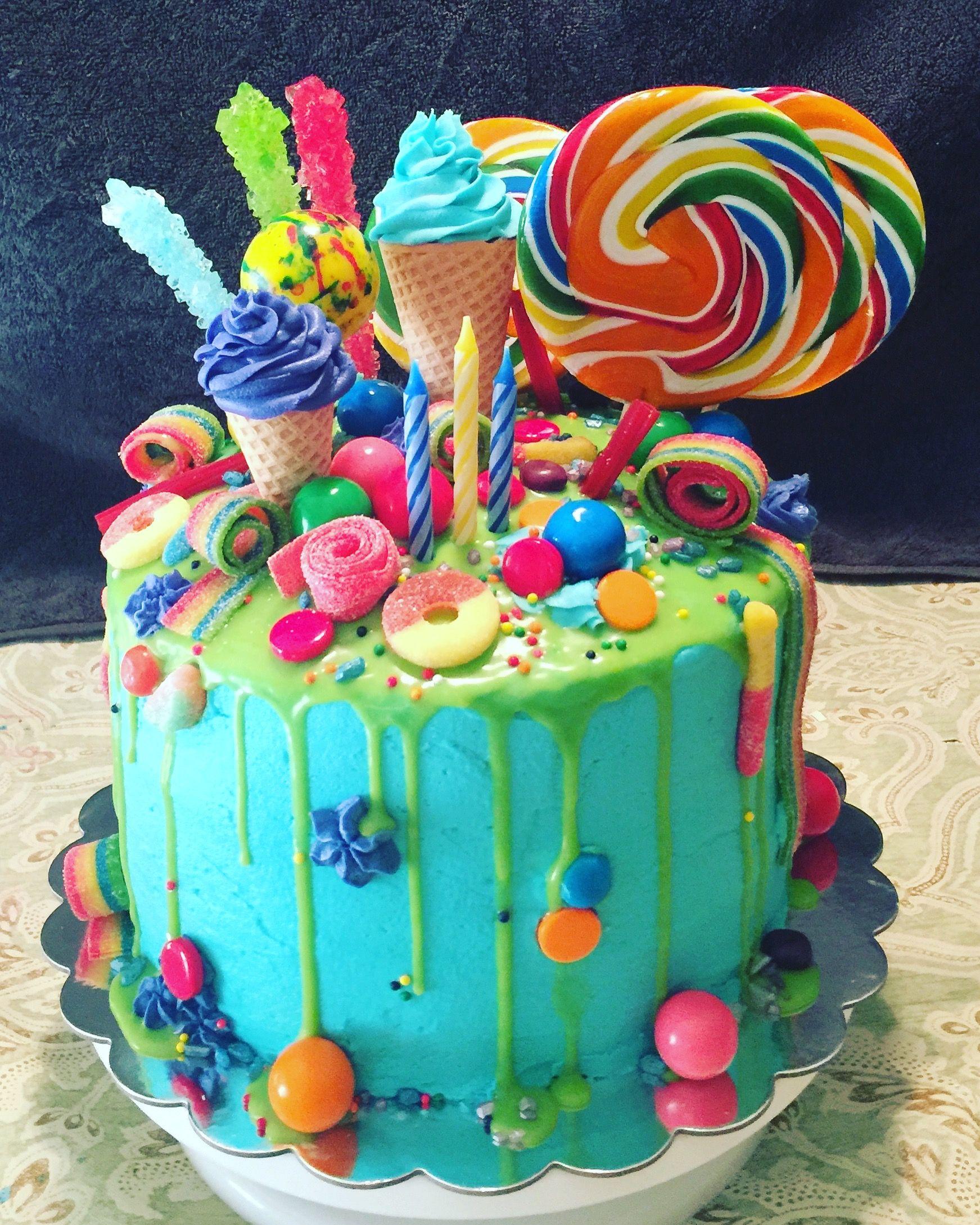 Фото ukrasheniya torta iz konfet i shokolada 11.