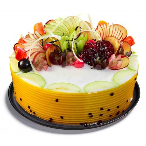 Фото tort ukrashennyj fruktami 17.