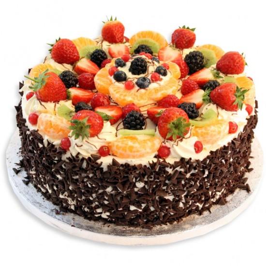 Фото tort ukrashennyj fruktami 19.