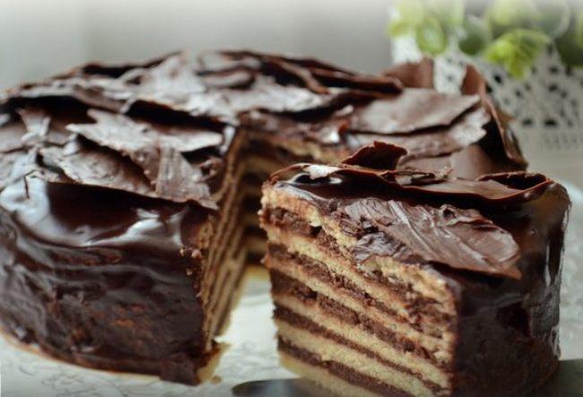 Фото shokoladniy tort s orexami 11.
