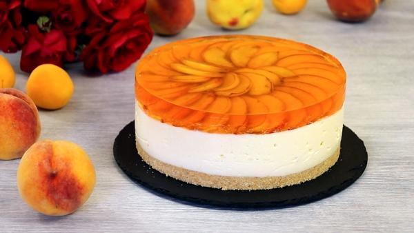 Фото tortik persik v yogurte.